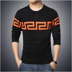f242e07697 Pánský stylový slim svetr černé se vzorem – pánské svetry + POŠTOVNÉ ZDARMA  Na tento produkt