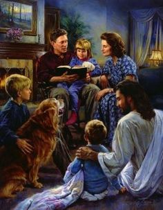love this pic of Family Devotions