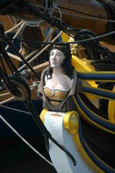 Sail aboard the Lady Washington and Hawaiian Chieftain Hermione, Ship Figurehead, Ship Drawing, Tall Ships, Model Ships, Sailing Ships, Nautical, Washington, Sailboats