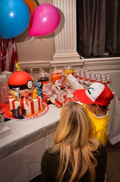 Pokemon Party!  Great ideas.