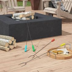 The Outdoor GreatRoom Company Kenwood Composite Propane/Natural Gas Fire Pit Table Natural Gas Outdoor Fireplace, Natural Gas Fire Pit, Outdoor Fireplaces, Gas Fireplaces, Steel Fire Pit, Wood Burning Fire Pit, Propane Fire Pit Table, Fire Table, Fire Pit Materials