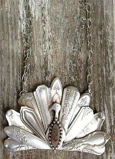 Silverware pendant by UpcyclePost in Upcycled Fashion | UpcyclePost