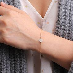 Diamond cluster circle bracelet-layering bracelet/ by CMYGIRL