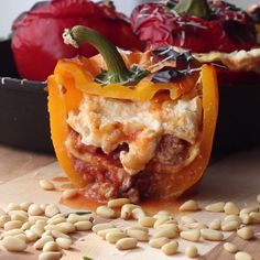 How to make Lasagna Stuffed Peppers.