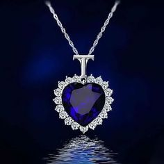 Women Blue Moive Titanic Heart Of Ocean Necklace Chain Crystal Pendant Jewelry Diy Jewelry Store, Jewelry Stores, Jewelry Gifts, Crystal Pendant, Crystal Necklace, Pendant Jewelry, Pendant Necklace, Necklace Chain, Back Jewelry
