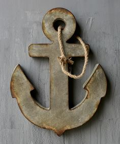 Another great find on #zulily! Aged Zinc Hanging Anchor #zulilyfinds