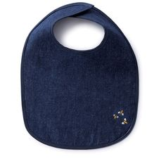 Our Hemp Denim makes for a wonderful bib for baby. Soft, durable and machine washable. The Hemp Denim we use is made from a blend of hemp and certified organic cotton. Accented with cotton piping to make it comfortable for baby. And as an added touch, we embroidered with our family of bees on the front.