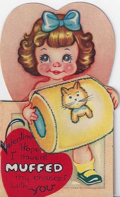 Vintage~Valentine's Day Card-Circa ~ Your my big thrill~ Little Teaser Valentine Images, Valentine Greeting Cards, My Funny Valentine, Vintage Valentine Cards, Valentine Special, Vintage Greeting Cards, Vintage Holiday, Vintage Postcards, Happy Valentines Day