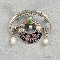 Jewelry Crafts, Jewelry Art, Antique Jewelry, Vintage Jewelry, Fashion Jewelry, Jewelry Design, Bijoux Art Nouveau, Art Nouveau Jewelry, Belle Epoque