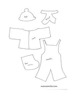 Felt or flannel board dress-up templates - perfect for preschools and daycares, or parents of toddlers and preschoolers.