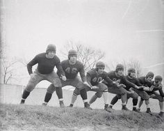 "1936 - Vince Lombardi #40 third from left.  The ""Seven Block of Granite"" Fordham University's offensive line."