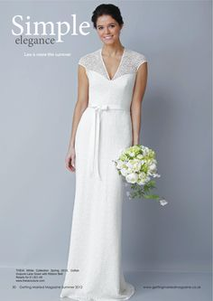 THEIA's bridal gown in Getting Married magazine  #simple #elegant