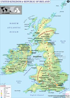 Great britain england wales and scotland it is one island the map of uk and ireland gumiabroncs Gallery