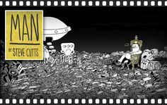 animation 'MAN' reflects mankind who creat and destroy the whole world.