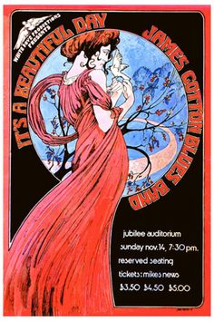 Classic rock concert psychedelic poster - by Bob Masse.