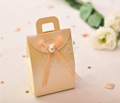 İncili Krem Rengi Çanta Kutu #nikah #şekeri
