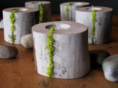 driftwood candles