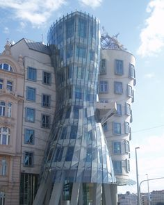 "Praha. ""The Rasin Building"" ""Fred and Ginger Building"", design Frank O. Gehry and Vladimir Milunic."