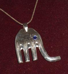 Elefanten Anhänger Silberbesteck Besteck  AH154 von Atelier Regina auf DaWanda.com