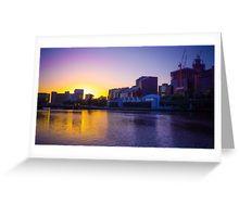 Backlit Along the Yarra - Melbourne, Victoria Greeting Card