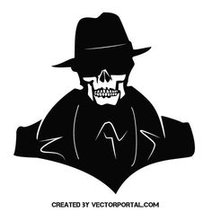 Skull with cowboy hat vector image   clip art in 2019 ...