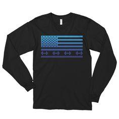 Nation Fit (Blue Flag). Long sleeve t-shirt (unisex).