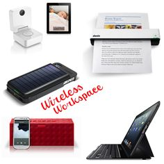 Work wirelessly- whenever, wherever with these #wireless tech #gadgets for your #mobile #office or workspace!
