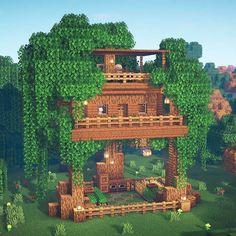 Casa Medieval Minecraft, Minecraft Mansion, Minecraft Cottage, Easy Minecraft Houses, Minecraft Plans, Minecraft Decorations, Minecraft Survival, Amazing Minecraft, Minecraft Blueprints