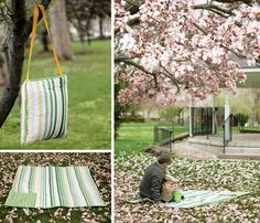 DIY Picnic Blanket Tote by craftbuds  #DIY #Picnic_Blanket