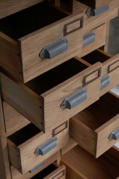 Closeup of antique Japanese drawers