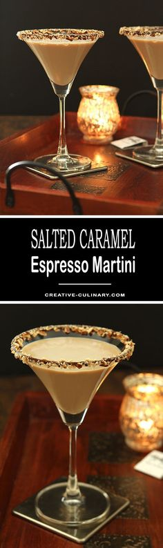 The Bailey's Salted Caramel and Espresso Martini is a fantastic dessert cocktail for the holidays; from Valentine's Day to the end of the year...it's totally delicious!