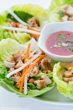 Thai Chicken Lettuce Wraps | Easy Japanese Recipes at JustOneCookbook.com