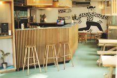 Mikkeller + Friends — & Away We Went Office Interiors, Interior Office, Coffee Shop Interior Design, Away We Go, Brew Pub, Beer Bar, Brewery, Restaurant Ideas, Copenhagen Denmark