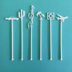 Palm Springs Party Drink Stirrers  Set of 6 by CaliforniaLustre