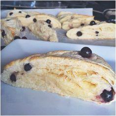 Saskatoon Berry Scones | Cupcakes & Curls Saskatoon Recipes, Saskatoon Berry Recipe, Rhubarb Scones, How Sweet Eats, No Bake Desserts, Baking Recipes, Berries, Yummy Food, Coffee Reading