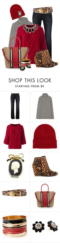 """""""Cozy Red Sweater"""" by hope-houston on Polyvore featuring Lee, Uniqlo, Lands' End, NLY Accessories, Chanel, Jessica Simpson, Dolce&Gabbana, Givenchy, Forever 21 and Kate Spade"""