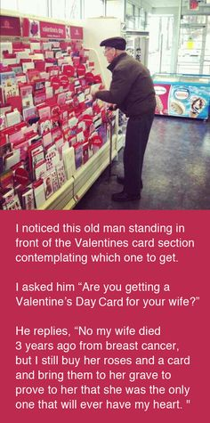 Best Valentine Story - Old man in gift shop. #breastcancer
