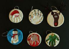 Easy DIY ornaments: Santa, Snow Man, Mitten, Christmas Tree and Reindeer