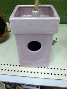 Ceramic birdhouse from target