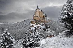 Alcazar castle of Segovia, Spain.
