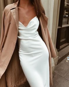 February 02 2020 at fashion-inspo Glamouröse Outfits, Classy Outfits, Casual Chic, White Casual, Dress Casual, Sexy Dresses, Fashion Dresses, Elegant Dresses, Fall Dresses