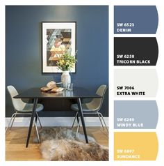Paint colors from Chip It! by Sherwin-Williams SW 6523 Denim. Paint colors from Chip It! by Sherwin-Williams