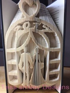 wedding couple arch 2017 book folding pattern bookart - Book Folding Art