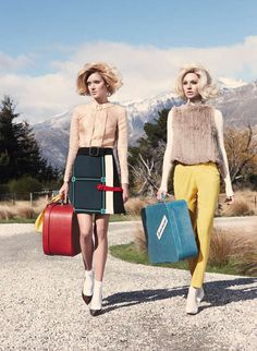 'Twin Peaks' Melissa Johannsen & Emilia Skuza by Nicole Bentley for Vogue Australia, July 2011 Foto Fashion, Fashion Shoot, Editorial Fashion, High Fashion, Fashion Beauty, Travel Fashion, Vogue Editorial, 50 Fashion, Fashion Outlet