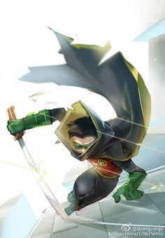 Damian as Robin. …