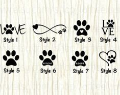 Love Paw Animal Car Decal, Dog Love Paw Word Decal, Paw Infinity Decal, Rescue Decal, Adopt Decal,Paw, Love Decal, Gifts for Animal Lovers