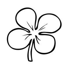 Four leaf clover tattoo design