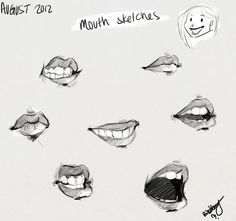 ~ Mouth sketches by Funny Cartoon Pictures, Cartoon Photo, Sketch Mouth, Ariel Cartoon, Sweet Drawings, Drawing Techniques, Drawing Tips, Human Drawing, Character Design References