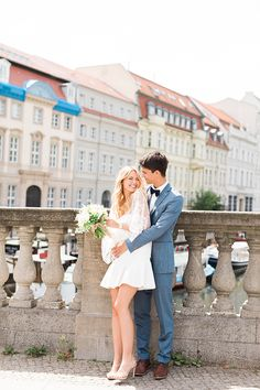Today we're head over heels in love with the stylish Franzi and Dominik and their chic civil wedding day photographed by Ashley Ludaescher Photography. Wedding Pics, Chic Wedding, Wedding Bride, Wedding Styles, Dream Wedding, Wedding Blog, Bride Groom, Courthouse Wedding Dress, Civil Wedding Dresses