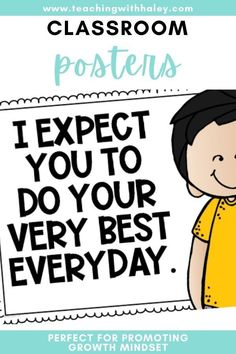 I believe our students need to know exactly what we expect of them and also how we feel about them! These posters are perfect to introduce in classroom meetings and discuss. Once you have discussed them, they make adorable decor that will always remind your kiddos about the culture of your classroom! They are perfect for promoting growth mindset, accountable talk, and relationships in the classroom.